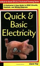 Quick & Basic Electricity : A Contractor's Easy Guide to HVAC Circuits-ExLibrary