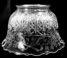 EAPG - No 42 Mardi Gras Gas Light Shade with Bowknot Holly Etch
