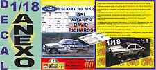 ANEXO DECAL 1/18 FORD ESCORT RS 1800 MK II ROTHMANS A.VATANEN R.BRASIL 1981 (04)