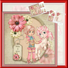 CUTE UNICORN DECOUPAGE  MINI KIT-2 X A4  SHEETS (MARCH 2016) JEMINI'S CRAFT'S