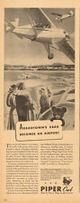 1944 WW2 era AD fly Piper Cub Airplanes Post war  Arbortown Airport  123015