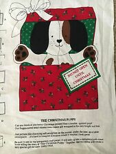 CHRISTMAS PUPPY VIP Panel~Make a Stuffed Puppy in a Fabric Over Cardboard Box!