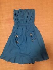 ONE TEASPOON ROYAL BLUE STRAPLESS DRESS SIZE M (10)