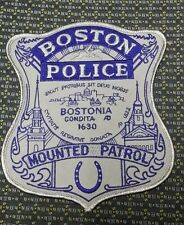 BOSTON, MASSACHUSETTS Police Mounted Patrol Saddle Blanket Patch Silver MA