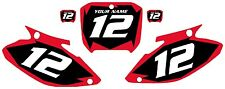 2002-2003 HONDA CR250 Custom Pre-Printed Black Backgrounds Red Shock Series