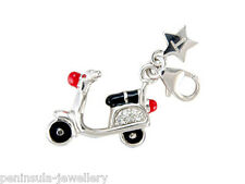 Tingle Scooter Clip on Sterling Silver Charm with Gift Box and Bag SCH68