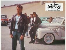 JOHN TRAVOLTA GREASE 1978VINTAGE LOBBY CARD #2 FORD DELUXE 1948 CAR VOITURE