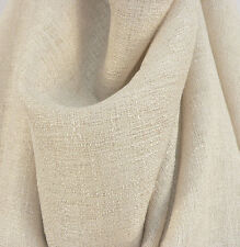 """Drapery Upholstery Fabric 108"""" Extra Wide Nubby Textured Rustic Sheer - Wheat"""