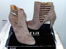 "a.n.a Fashion Ankle Boots ""Olive""--size 9M, taupe--Beautiful styling!  NWT $70"