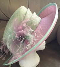 Gorgeous Mint Green & Lilac Wedding Hat by Jacques Vert BNWT