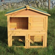 "40"" Hen House Wooden Chicken Coop Rabbit Hutch Cage Pet Poultry Animal Cage Run"