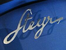 Emblem Abzeichen Steyr 380 480 580 Baby Schild Alu s28 klein 11x21,5 cm