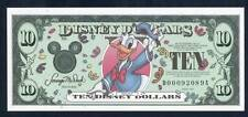 DISNEY DOLLARS, 2000D, CHOICE UNCIRCULATED, 10 DOLLARS