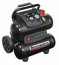 Rockworth 1.5HP 4 Gallon Portable Electric Twin-Stack Air Compressor | RW1504ST2