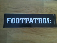 FOOTPATROL CLASSIC BOX LOGO BLACK WHITE SKATEBOARD VINYL STICKER FOOT-PATROL