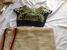 bollywood saree salwar anarkali sari kurti choli saree with Stitched blouse