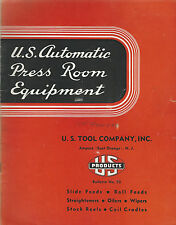 Automatic Press Room Equipment U.S. Tool Co 1946 Bulletin #50 Ampere New Jersey