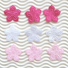 "US SELLER - 150 pcs x 1"" Padded Bauhinia Satin Flower Appliques for Cards ST499A"