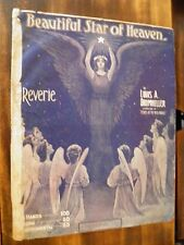 SHEET MUSIC BEAUTIFUL STAR OF HEAVEN BY DRUMHELLER 1905 REVERIE