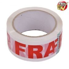 *6Rolls - 48mm x 50m Strong Fragile-Printed Parcel Packing Packaging Tape Long