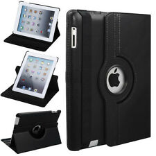Leather 360 Degree Rotating Case Cover With Sleep Wake For New iPad 4 iPad 2 3