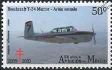 BEECHCRAFT T-34 MENTOR Trainer Aircraft Stamp (100 Years of Aviation in Mexico)