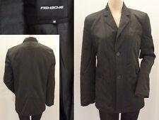 Fishbone Jacke Blazer Jacket Damen lässige Eleganz Satin Schwarz M 38 1A