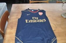ARSENAL FLY EMIRATES NIKE FOOTBALL TRAINING SHIRT SIZE MENS MEDIUM USED