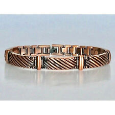 8.5  IN COPPER MAGNETIC BRACELET UNIQUE DESIGN WITH MAGNET EVERY LINK NEW 6455