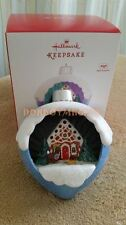 Hallmark 2016 A Sweet Surprise Gingerbread House Magic Christmas Ornament