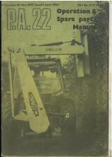 Mcconnel PA22 hedgetrimmer & hedgecutter opérateurs manuel & liste de pièces