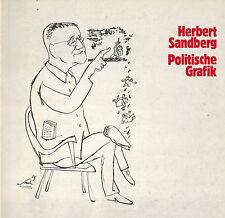Herbert Sandberg, Ost-Berlin / DDR, Politische Grafik, Katalog OS 1981, signiert