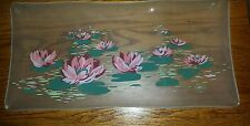 Vintage  Claude Monet  Water Lily  glass tray