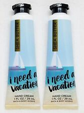2 Bath Body Works I NEED A VACATION OCEAN CITRUS Shea Butter Hand Cream Travel