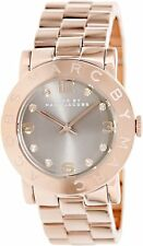 MARC JACOBS  STAINLESS STEEL ROSE GOLD TONE LIGHT BROWN DIAL WATCH MBM3221