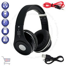 Foldable Bluetooth Black Headset Wireless Stereo Headphone Built-in Mic TF UKES