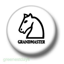 Chess Grandmaster 1 Inch / 25mm Pin Button Badge Board Move Check Mate Knight
