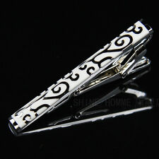 LJ-014 Stainless Steel Silver Toned Tie Clasp Clip Bar + Gift Box FREE SHIPPING