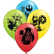 STAR WARS Assorted LATEX BALLOONS (6) ~ Birthday Party Supplies Decorations Yoda