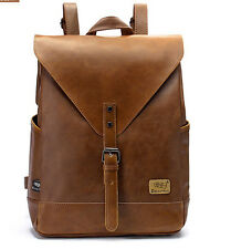 women Leather Vintage Backpack Rucksack Travel School laptop messenger Bag