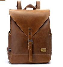 women Leather Vintage Backpack Rucksack Travel School laptop messenger Bag