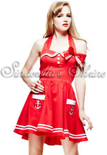 Mini Vestido Cosplay Hell Bunny Sexy Rojo Motley marinero punk Pirata Talla M UK 12-14