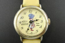 Vintage Bradley Holly Hobbie Engraved Enjoy Today Wristwatch Not Working
