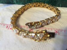 Suzanne  Somers Vintage State Bracelet Marked 925 Clasp. 18 Kt Gold Over Silver.