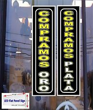 2 Light Box LED Signs COMPRAMOS PLATA & ORO (WE BUY GOLD & SILVER) in Spanish)