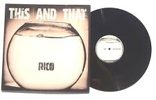 "RICO: This And That LP RICO RECORDS 12RICODJ01A UK 2004 12"" NM+"