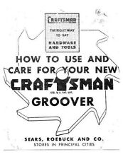 Craftsman 4914 Bench Saw Groover Blade Instructions