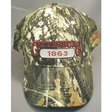 GETTYSBURG 1863 CAMO RED LETTERS CAP HAT NEW