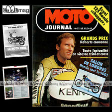 MOTO JOURNAL N°375-b HONDA CM 125 T 78 ★ POSTER JOHNNY CECOTTO MICHEL ROUGERIE ★