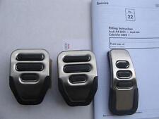 Audi RS4 original RHD pedals accelerator pedal cover brake clutch pads A4 S4 8E